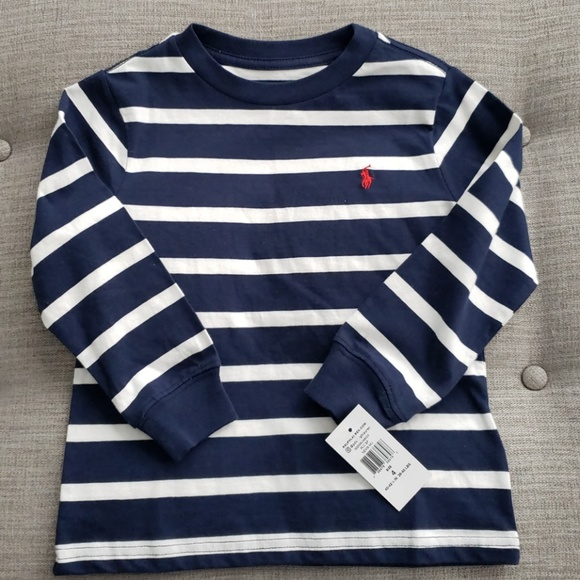 NWT Ralph Lauren Boys Long Sleeve Striped Jersey Rugby Shirt 2//2t 3//3t 4//4t NEW